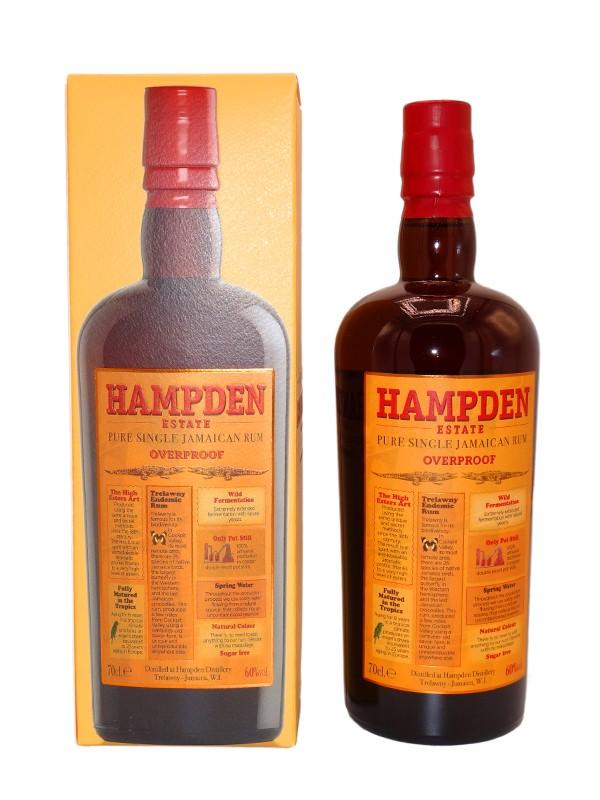 Rhum Jamaican rum HAMPDEN Overproof 60%